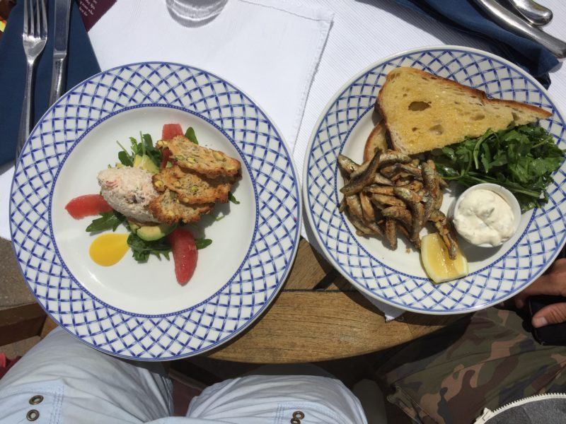 Lunch at the Nare Hotel, Roseland, Cornwall