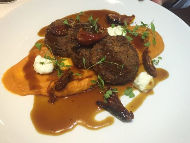Herb crusted lamb at Met Bar and Kitchen, Solihull