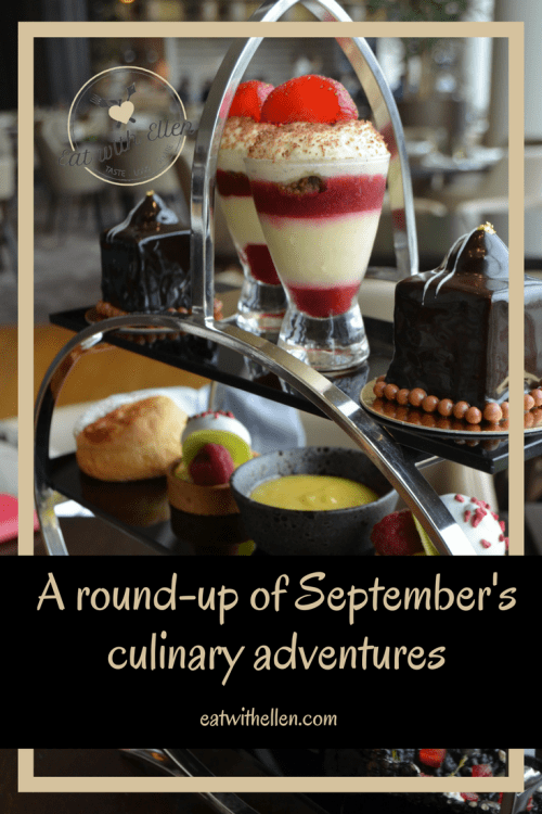 A round-up of September's culinary adventures
