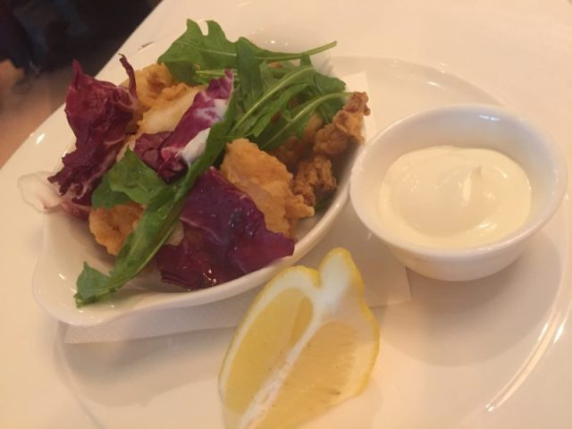 Calamari starter at Gusto, Leamington Spa