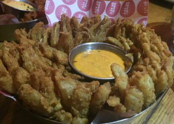 Blooming onion at Nosh and Quaff, Birmingham