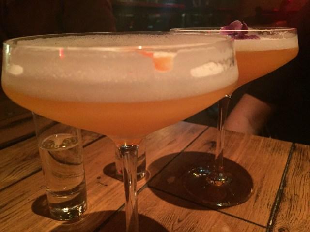 Cocktails at Nosh and Quaff, Birmingham