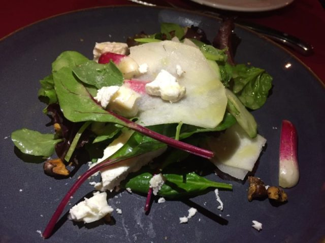Goats cheese starter at The Fat Fox Inn, Watlington