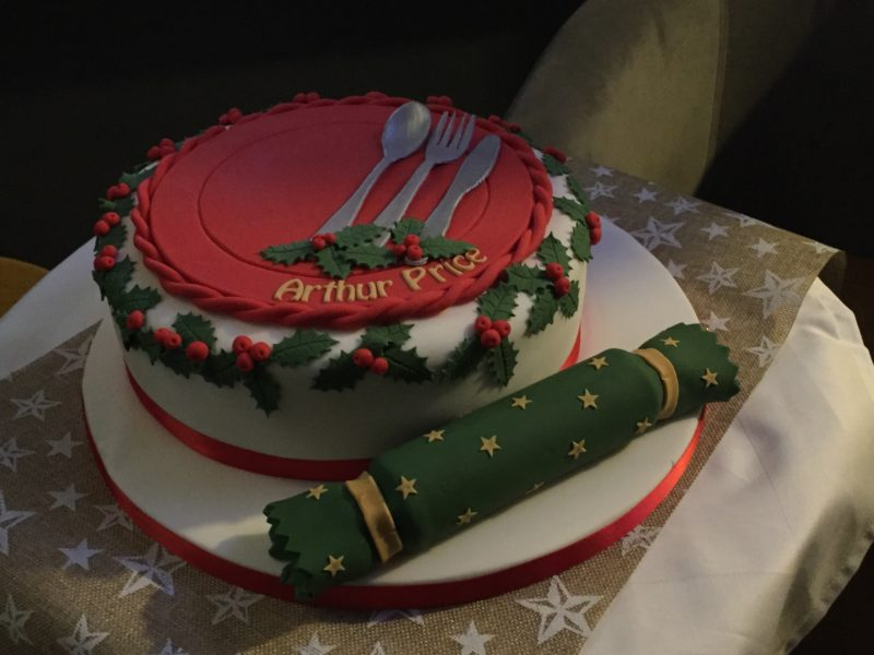 Christmas cake at the Arthur Price Bloggers Event
