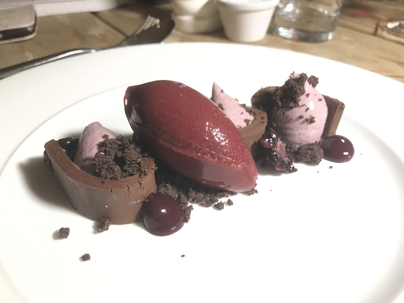 Blackberry mousse at The Gallivant, Camber