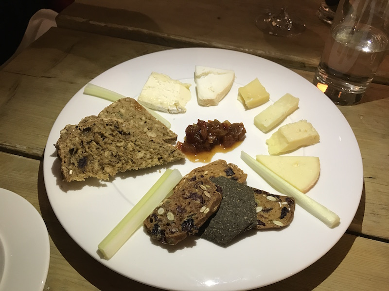 Cheese board at The Gallivant