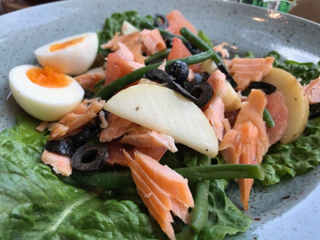 Hot smoked salmon salad at Bardolino, Birmingham