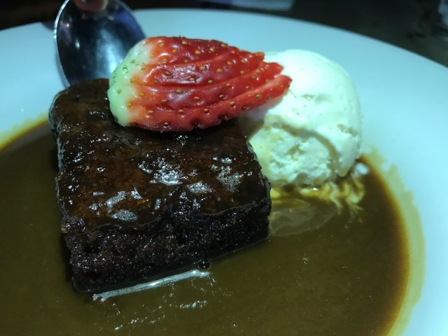 Sticky toffee pudding at The Peacock, Oxhill