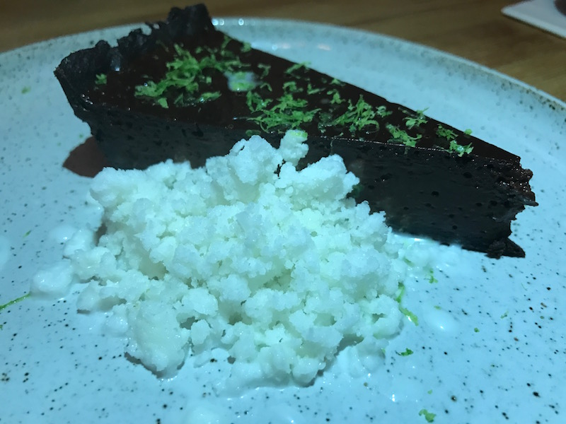 Chocolate tart at Salt, Stratford-upon-Avon