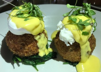 Fishcakes at The Peacock, Oxhill