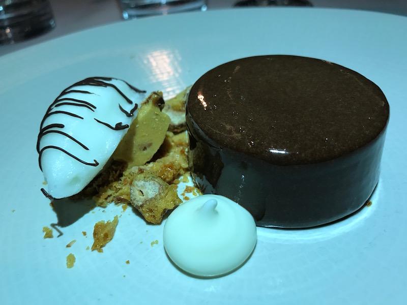 Chocolate dessert at Restaurant 23, Leamington Spa