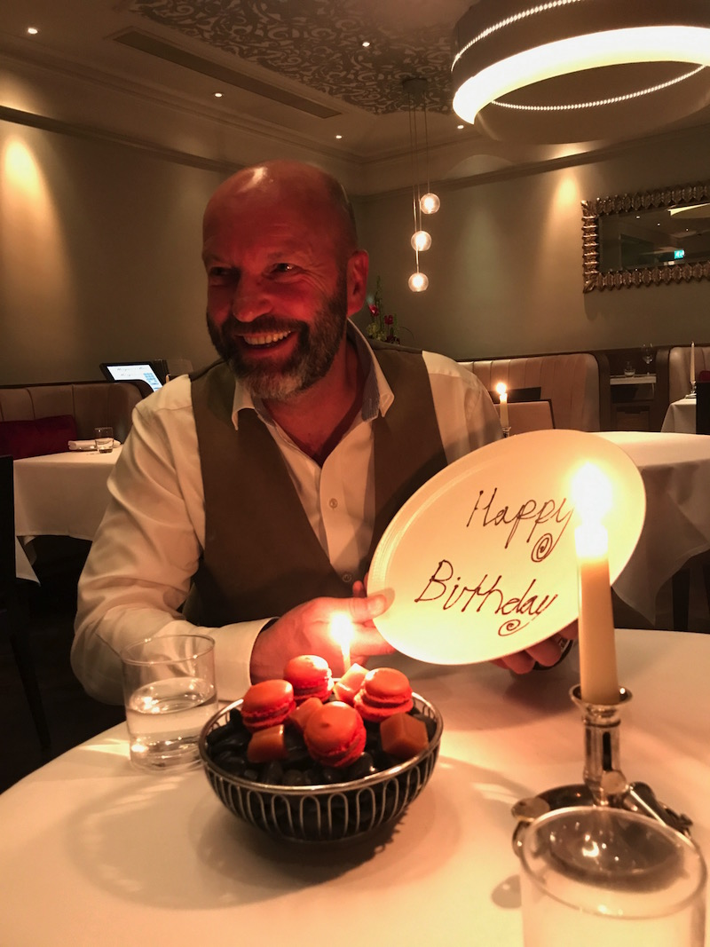 Birthday celebrations at Restaurant 23, Leamington Spa