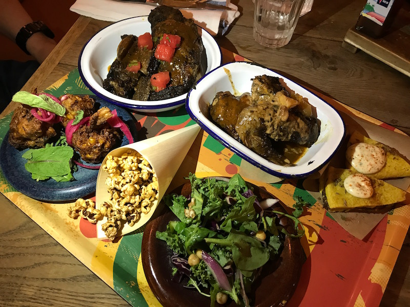 Jerk platter at Turtle Bay, Leamington Spa