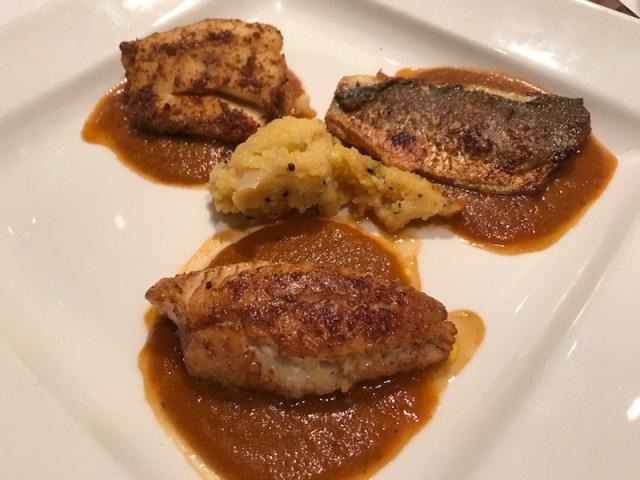 Fish main course at Atul Kochar's Sindhu