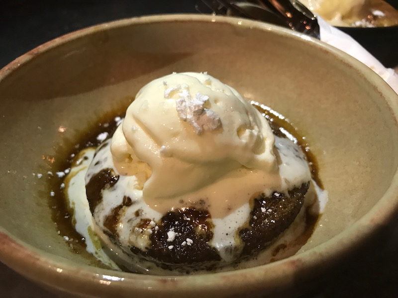 Sticky toffee pudding at The Canal House, Birmingham