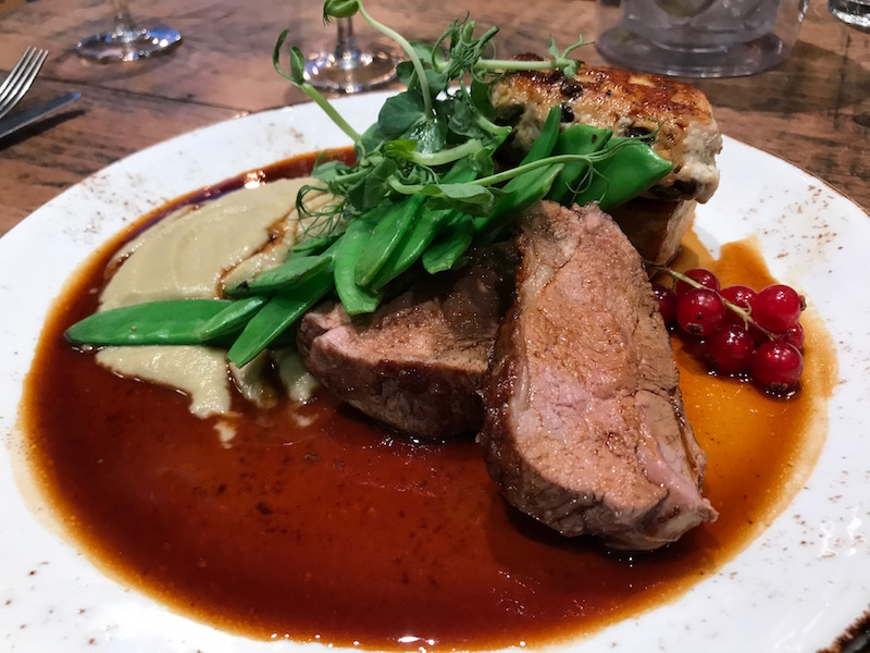 Pan roasted lamb rump at The Tuning Fork, Houlton