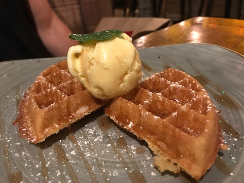 Waffles at Hickorys Smokehouse, Coventry