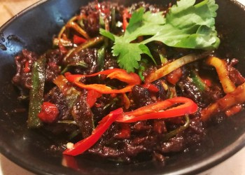 Asian Crispy Beef at Bar and Block, Bimingham