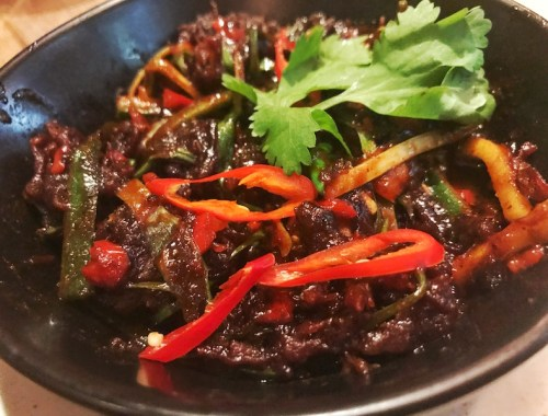 Asian Crispy Beef at Bar and Block, Bimingham