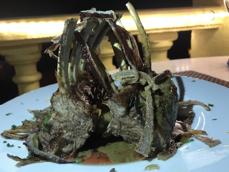 Rack of lamb at Fisherman's Inn, Tenerife