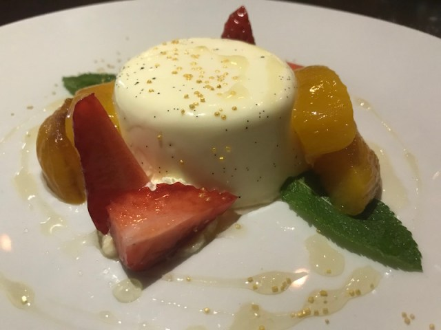 Panna cotta at Queen's Road, Coventry