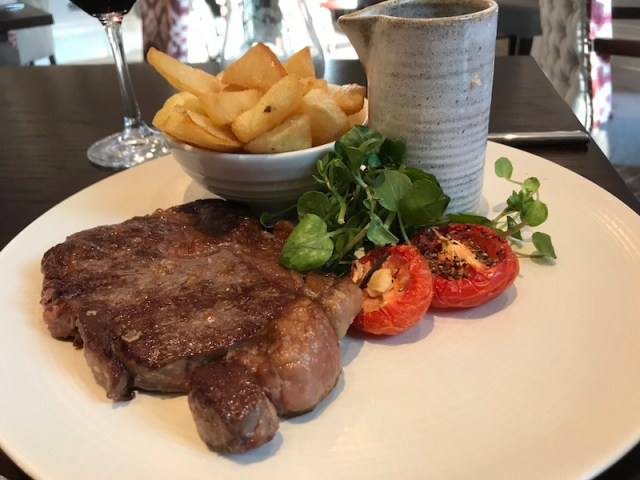 Ribeye steak at Three Church Road, Edgbaston