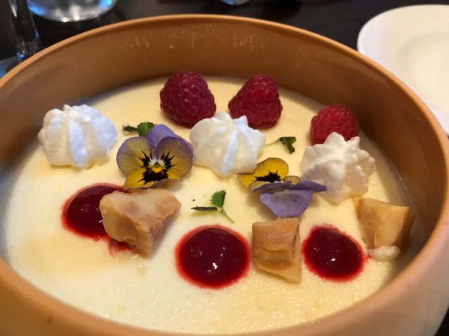 Lemon posset at Three Church Road, Edgbaston