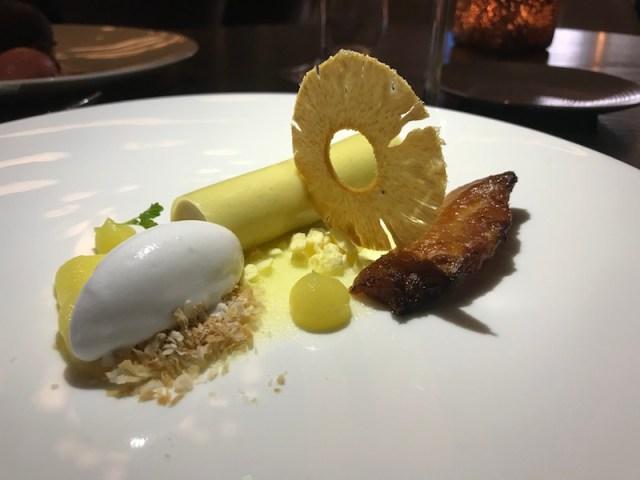 Pineapple dessert at Opheem