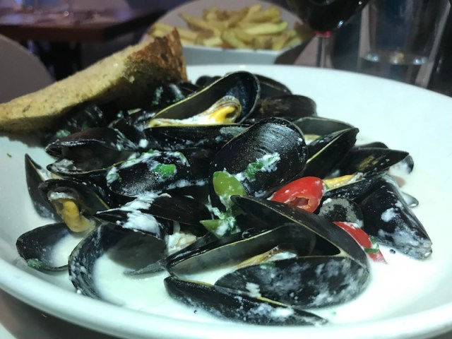 Mussels at No 55 Salcombe