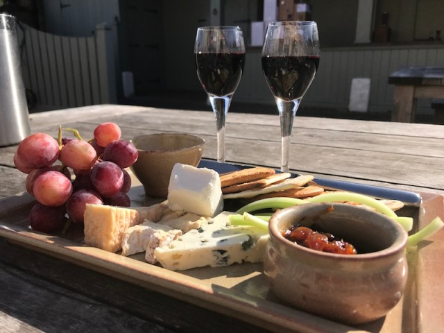 Cheese board at The Victoria Inn, Holkham