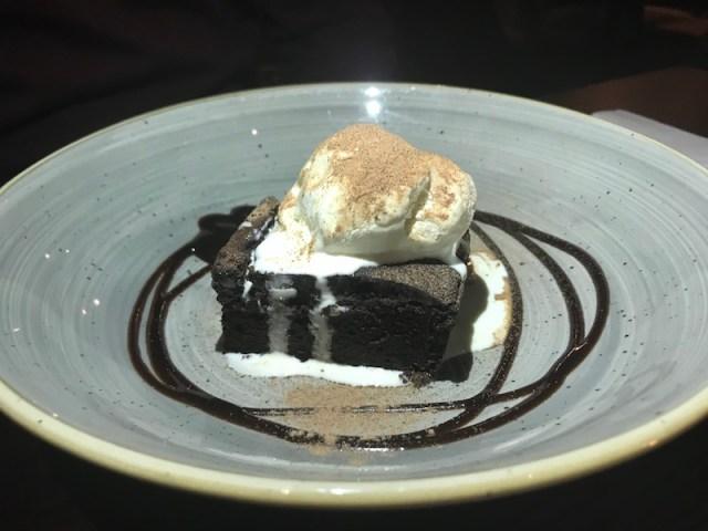 Chocolate Brownie at The Bull's Head,Meriden