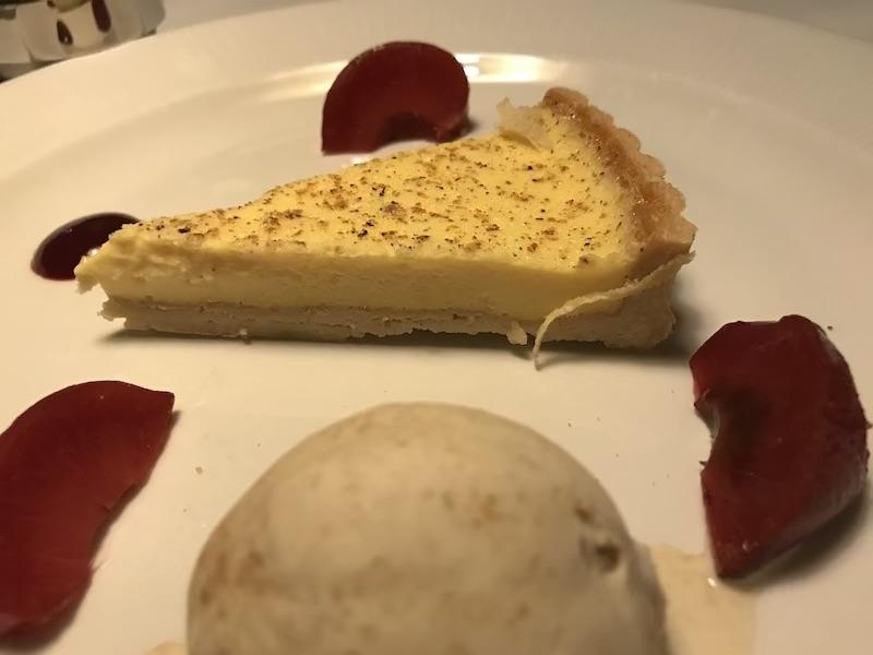 Egg custard tart at The Bushmills Inn