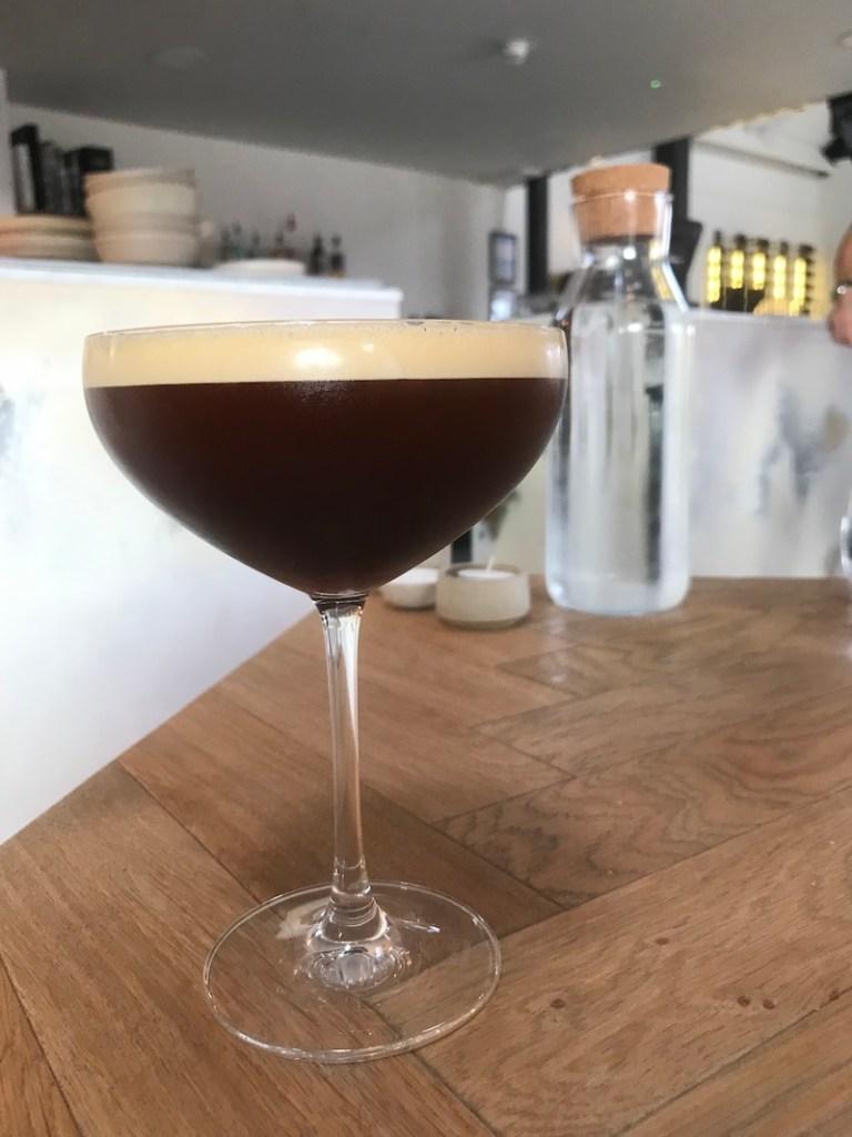 Espresso martini at Socius, Norfolk
