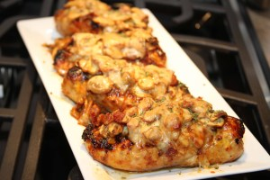 Mushroom & Cheese Honey Mustard Chicken