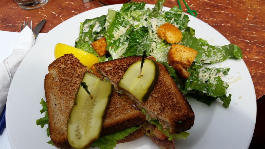 Roast Beef Sandwich & Caesar Salad at The Black Sheep Pub