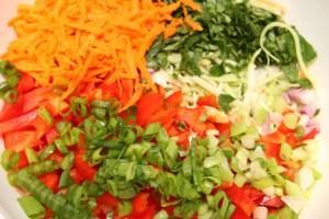Veggies for the Thai Quinoa Salad