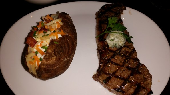 New York Striploin with blue cheese butter