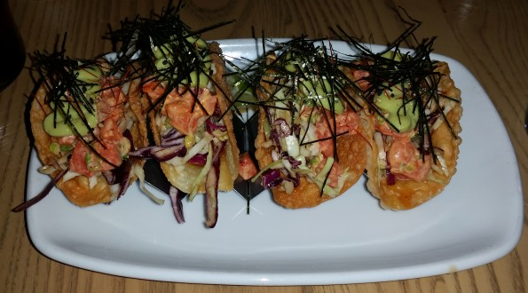 Spicy Salmon Tacos