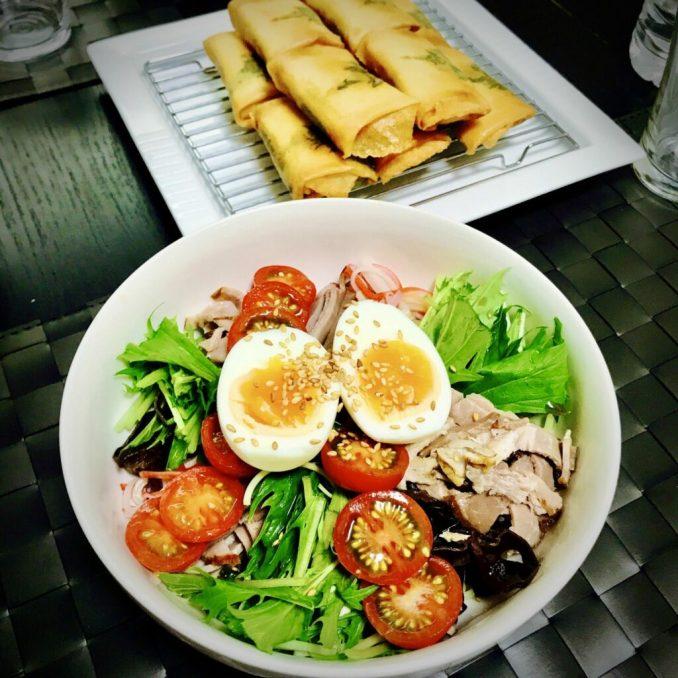 Hiyashi Chuka Chinese Cold Noodle - EATwithOHASHI.com - Organic Healthy Japanese