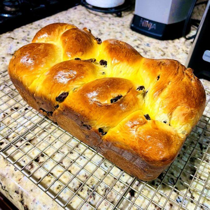 Raisin Cinnamon Homemade Bread Loaf