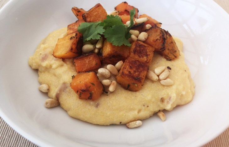 Roasted Butternut Squash with Caramelised Onion Polenta