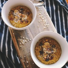 Golden Banana Bread Porridge