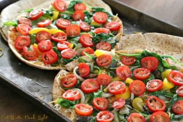pita pizzas vegetables without cheese