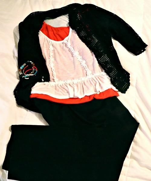 same shirt black and orange