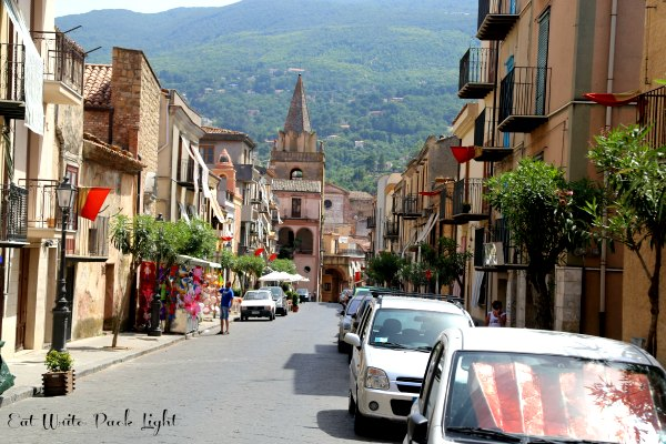 Castelbuono streets with mt