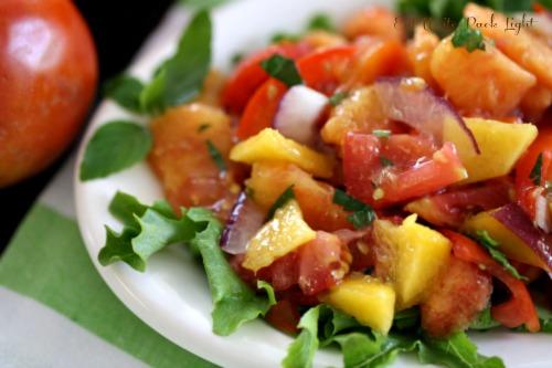 Peach-Tomato-Salad