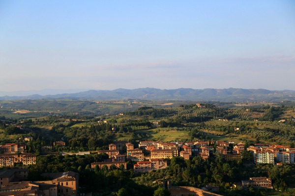 Siena towers hills