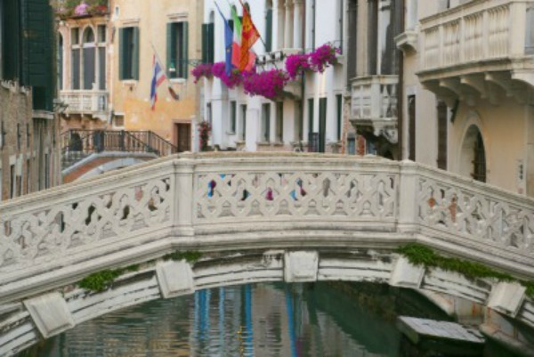 Venice Empty bridges and canals