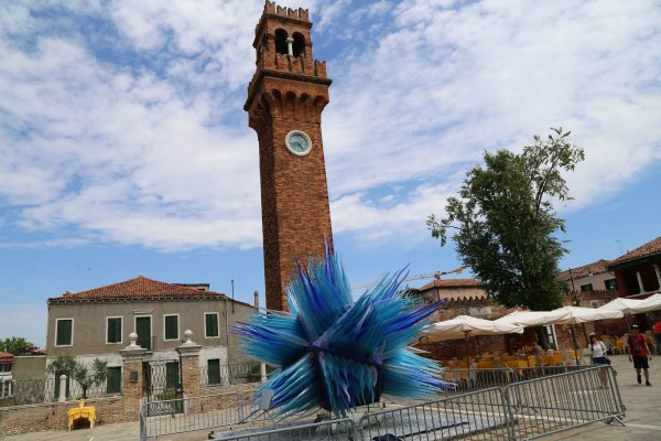 Venice Murano blue glass 3