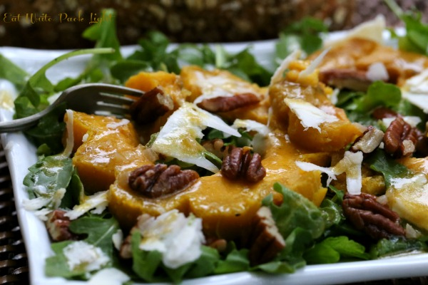 Acorn Squash with Arugula and Roasted Pecans